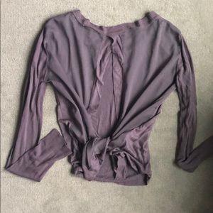 lush open back shirt